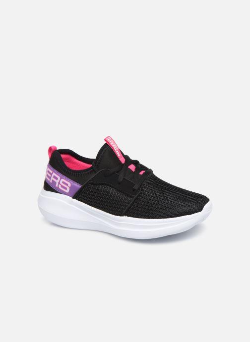 Sportssko Skechers Go Run Fast L Sort detaljeret billede af skoene