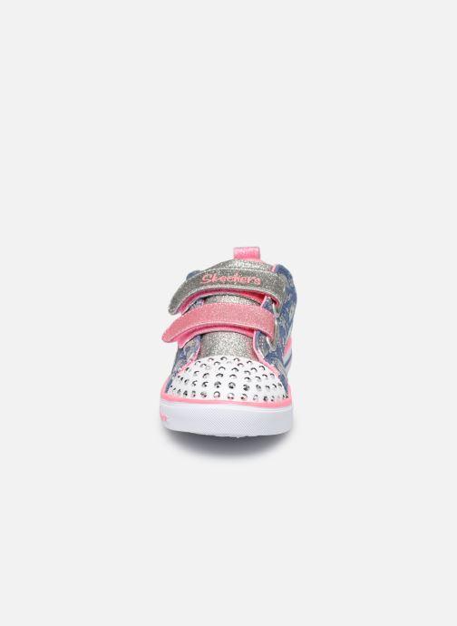 Baskets Skechers Sparkle Lite K Multicolore vue portées chaussures