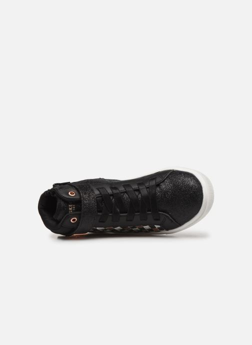Trainers Skechers Shoutouts Glitz Black view from the left