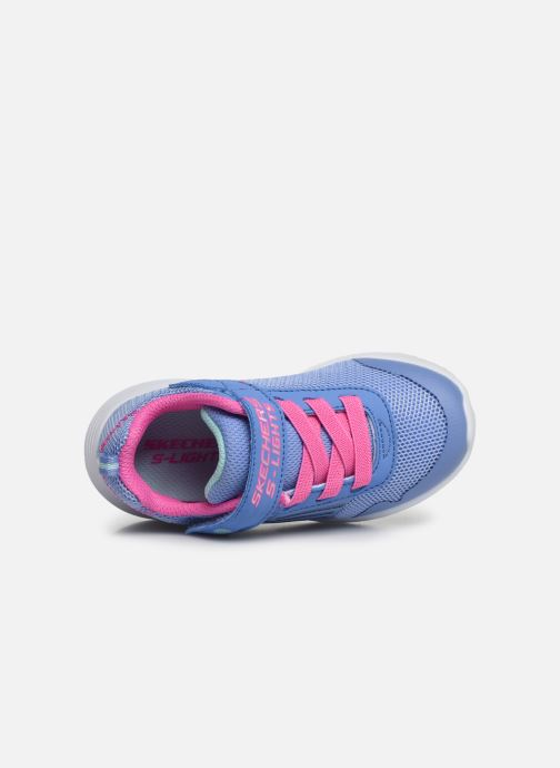 Baskets Skechers Dyna-Lights Bleu vue gauche