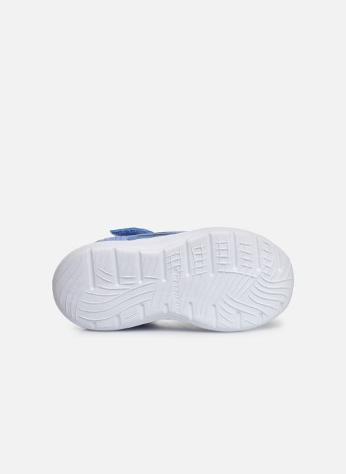 Baskets Skechers Dyna-Lights Bleu vue haut
