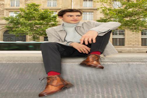 Bottines et boots Mr SARENZA Papio Marron vue bas / vue portée sac