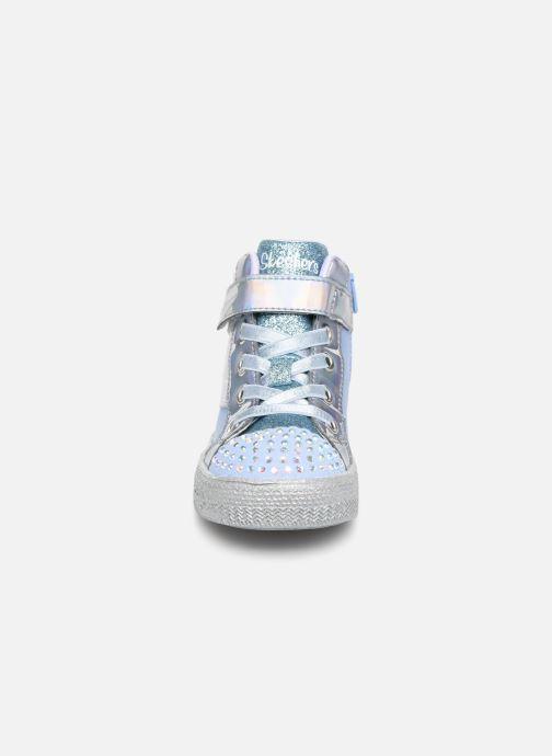 Sneaker Skechers Shuffle Lite grau schuhe getragen