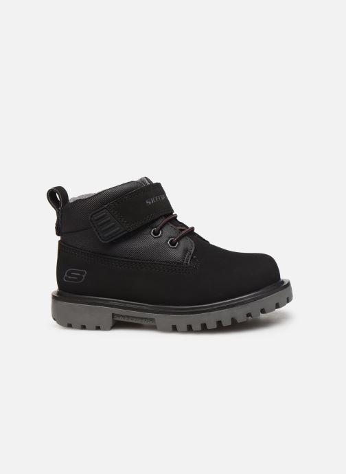 Boots en enkellaarsjes Skechers Mecca Bolders S Zwart achterkant