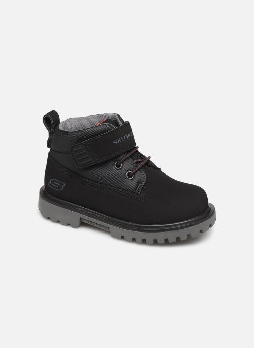 Boots en enkellaarsjes Skechers Mecca Bolders S Zwart detail