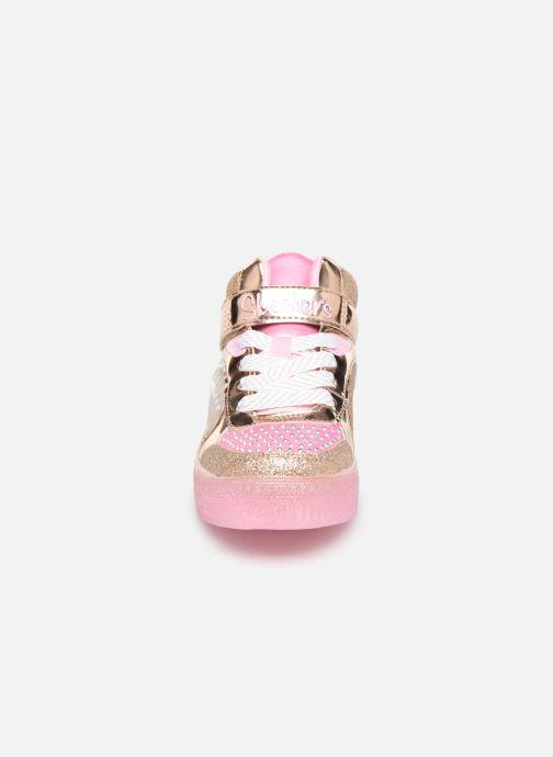 Baskets Skechers Shuffle Brights Or et bronze vue portées chaussures