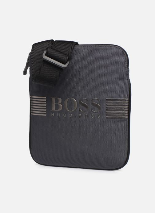 Men's bags BOSS Pixel ML S zip env Grey model view