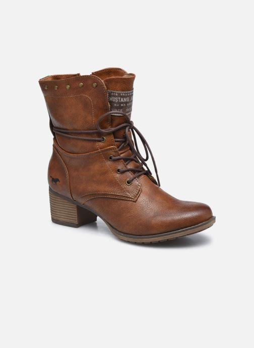 Bottines et boots Mustang shoes Julie BIS Marron vue détail/paire