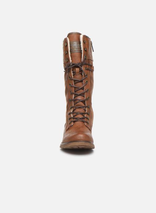 Bottes Mustang shoes Josefi Marron vue portées chaussures