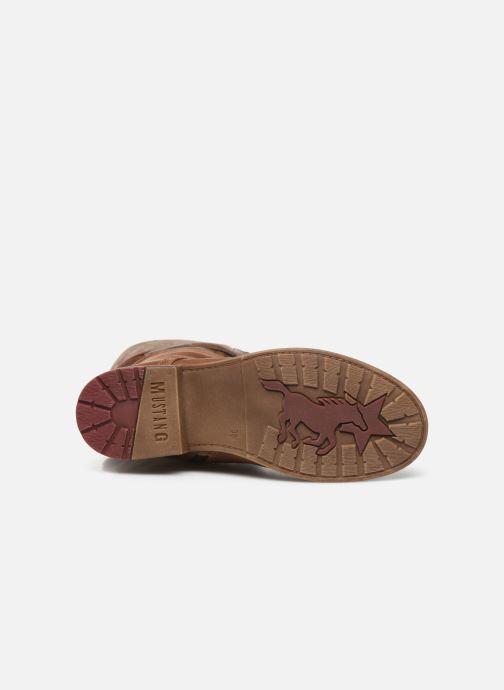 Stiefel Mustang shoes Josefi braun ansicht von oben