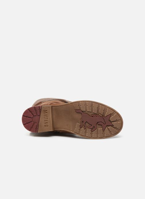 Bottes Mustang shoes Josefi Marron vue haut