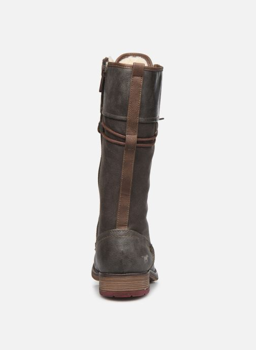 Stiefel Mustang shoes Josefi grau ansicht von rechts
