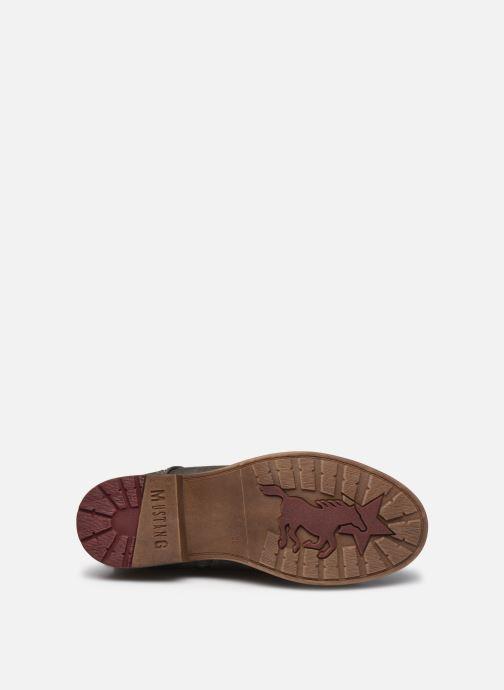 Stiefel Mustang shoes Josefi grau ansicht von oben