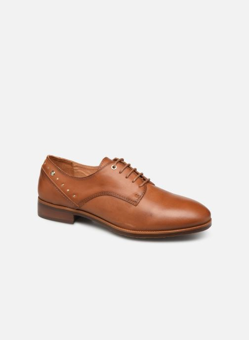 Lace-up shoes Pikolinos Royal W4D-4904 Brown detailed view/ Pair view