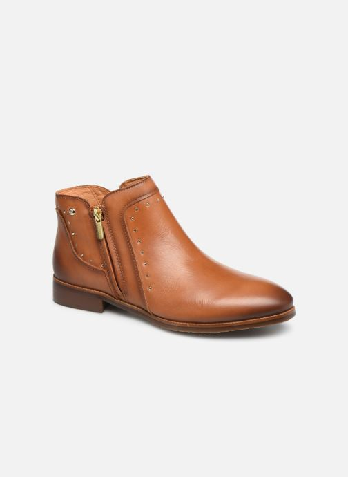 Ankle boots Pikolinos Royal W4D-8415 Brown detailed view/ Pair view