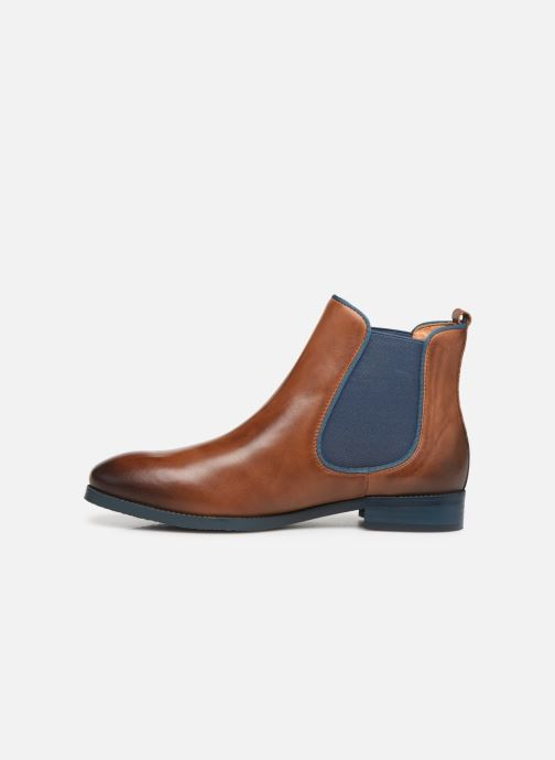 Ankle boots Pikolinos Royal W4D-8637ST Brown front view