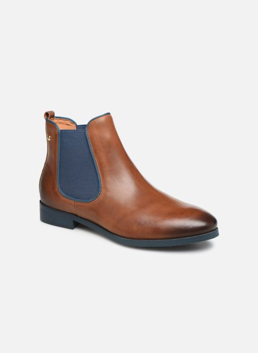 Ankle boots Pikolinos Royal W4D-8637ST Brown detailed view/ Pair view