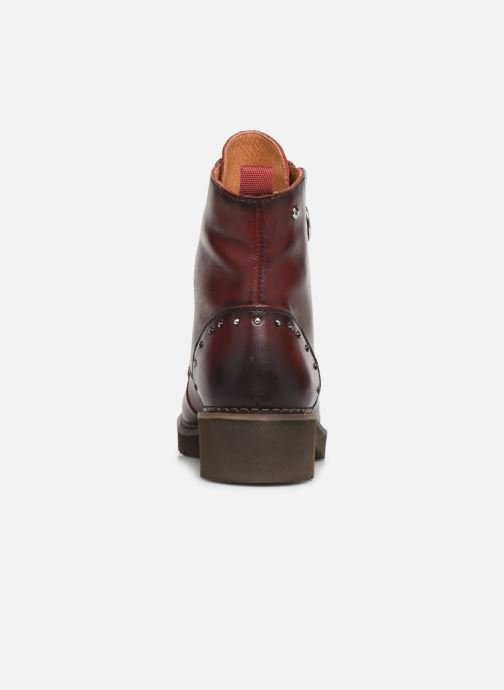 Ankle boots Pikolinos Vicar W0V-8610 Burgundy view from the right