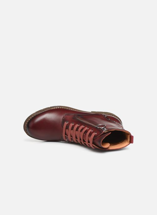 Ankle boots Pikolinos Vicar W0V-8610 Burgundy view from the left