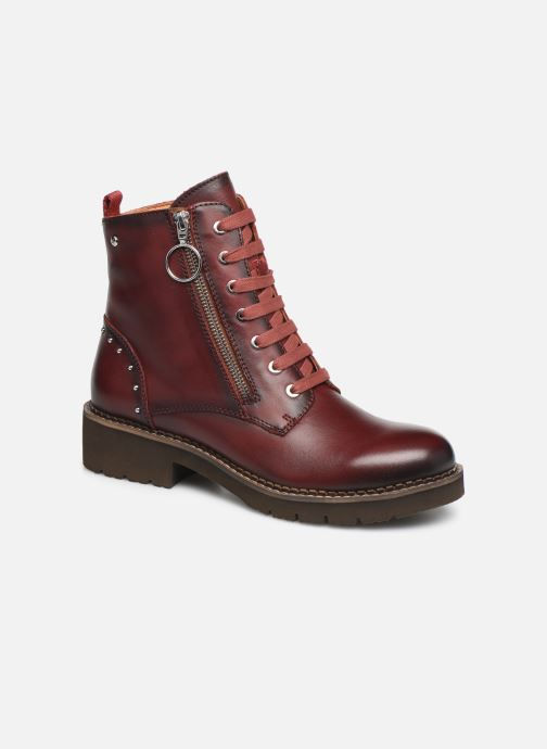 Ankle boots Pikolinos Vicar W0V-8610 Burgundy detailed view/ Pair view