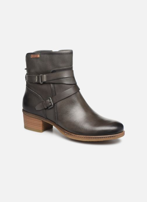 Ankle boots Pikolinos Zaragoza W9H-8907 Grey detailed view/ Pair view