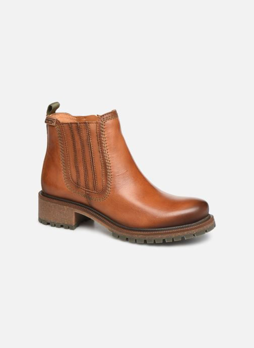 Ankle boots Pikolinos Aspe W9Z-8633 Brown detailed view/ Pair view
