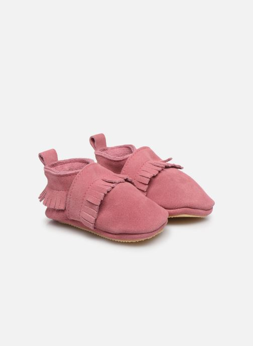 Chaussons Patt'touch Maxence Slipper Rose vue 3/4