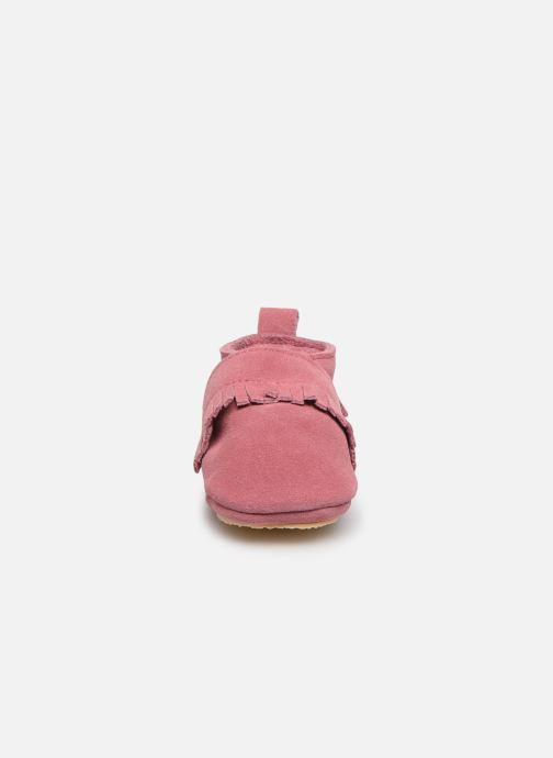Chaussons Patt'touch Maxence Slipper Rose vue portées chaussures