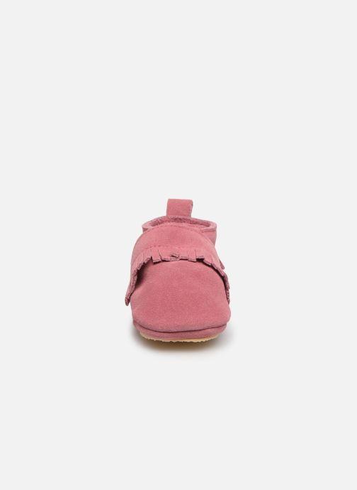 Hausschuhe Patt'touch Maxence Slipper rosa schuhe getragen