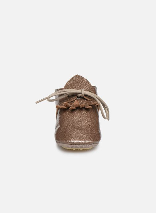 Slippers Patt'touch Augustina Derby Franges Bronze and Gold model view