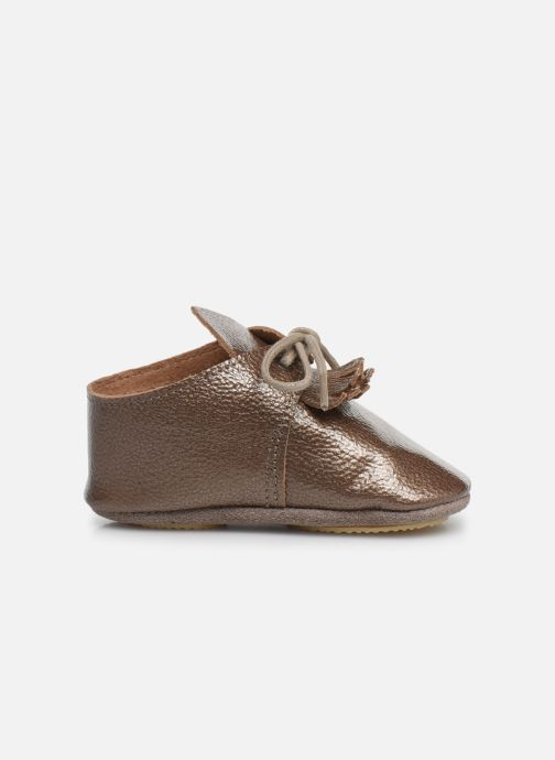 Pantuflas Patt'touch Augustina Derby Franges Oro y bronce vistra trasera