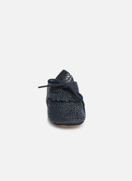Hjemmesko Patt'touch Augustina Derby Franges Blå se skoene på