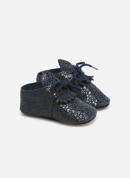 Hjemmesko Patt'touch Augustina Derby Franges Blå detaljeret billede af skoene