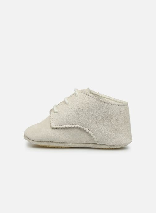 Chaussons Patt'touch Ange Derby Blanc vue face