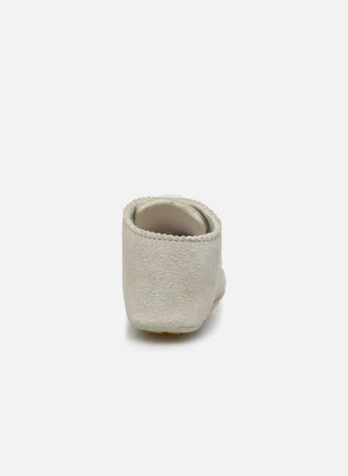 Chaussons Patt'touch Ange Derby Blanc vue droite