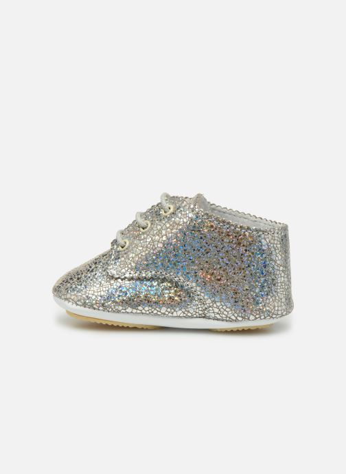 Chaussons Patt'touch Ange Derby Argent vue face
