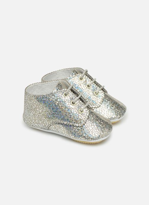Slippers Patt'touch Ange Derby Silver detailed view/ Pair view