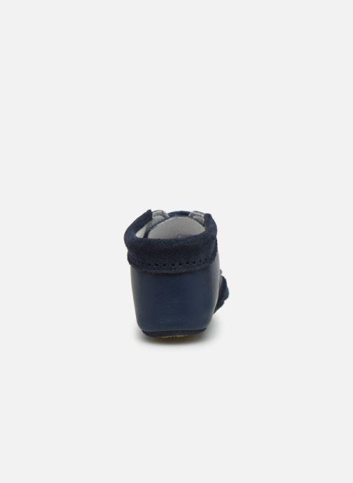 Pantuflas Patt'touch Loan Berby Bi-matière Azul vista lateral derecha