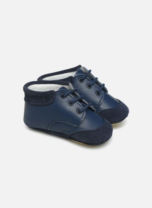 Slippers Patt'touch Loan Berby Bi-matière Blue detailed view/ Pair view
