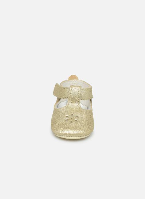 Chaussons Patt'touch Mae Salome Or et bronze vue portées chaussures