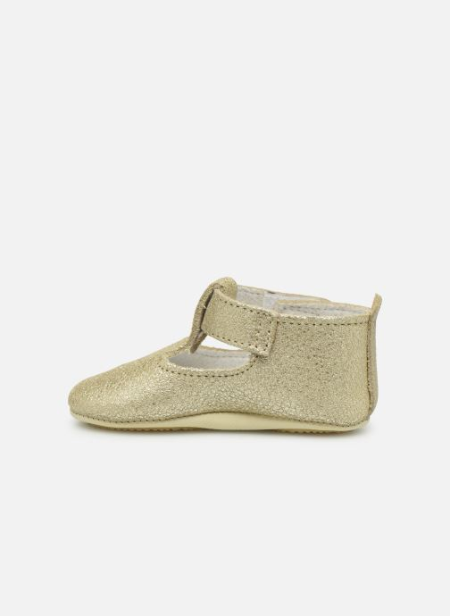 Chaussons Patt'touch Mae Salome Or et bronze vue face