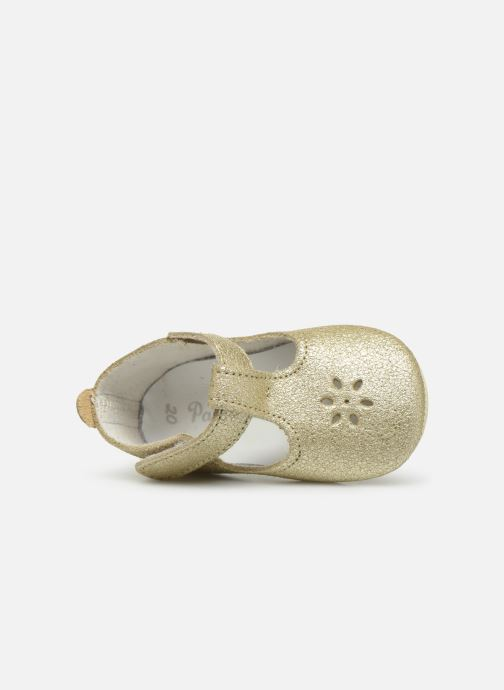 Slippers Patt'touch Mae Salome Bronze and Gold view from the left