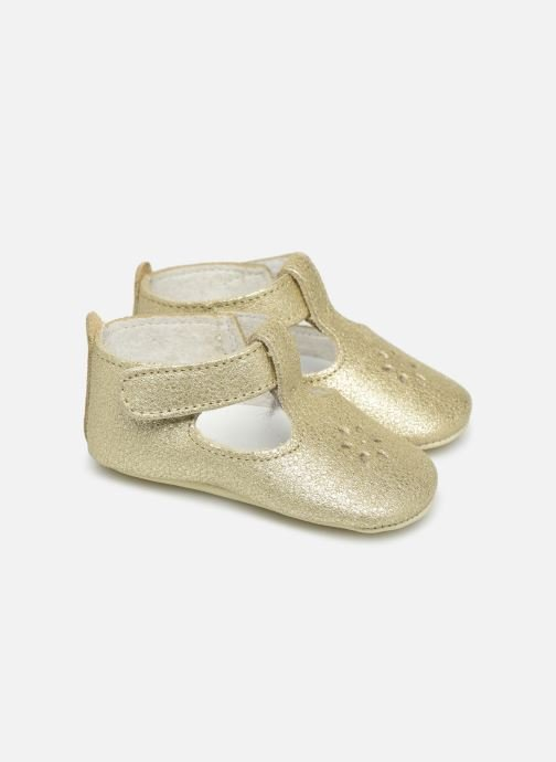 Slippers Patt'touch Mae Salome Bronze and Gold detailed view/ Pair view