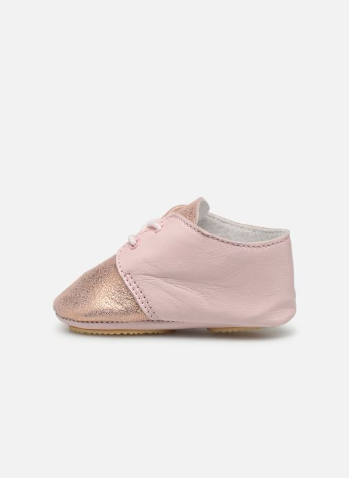Chaussons Patt'touch Lou Derby Rose vue face
