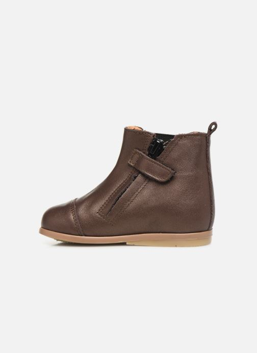 Ankle boots Patt'touch Mahe Boots Bronze and Gold front view