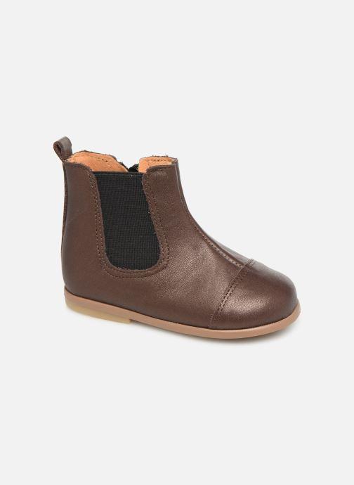 Bottines et boots Patt'touch Mahe Boots Or et bronze vue détail/paire