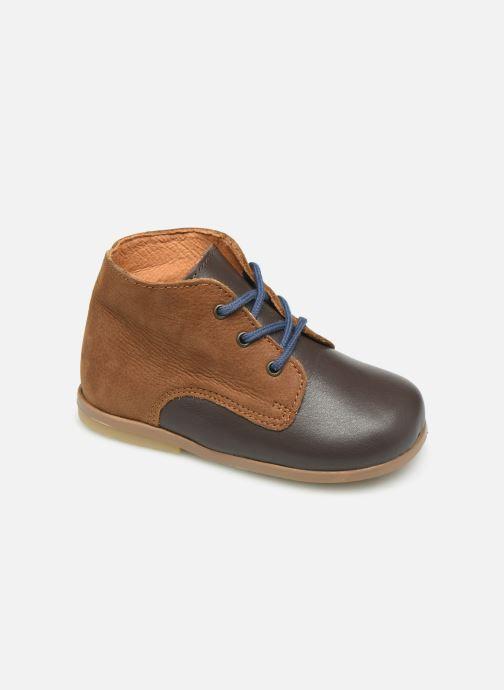 Bottines et boots Patt'touch Désiré Derby Marron vue détail/paire