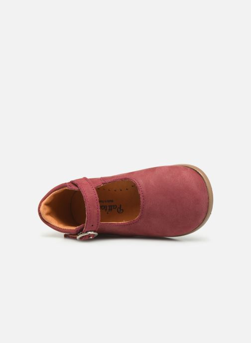 Ballet pumps Patt'touch Daphné Babies Burgundy view from the left
