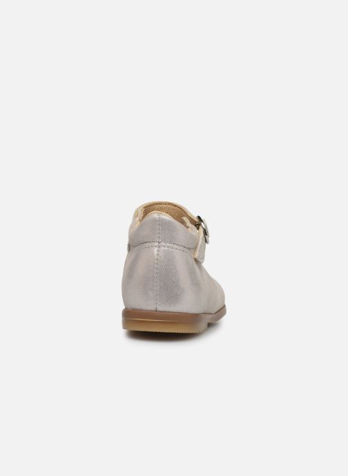Ballet pumps Patt'touch Daphné Babies Silver view from the right