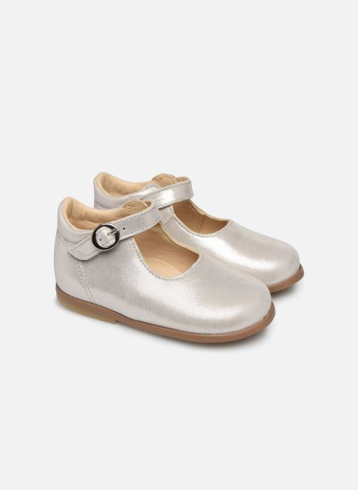 Ballet pumps Patt'touch Daphné Babies Silver detailed view/ Pair view